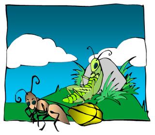 Ağustos Böceği İle Karınca